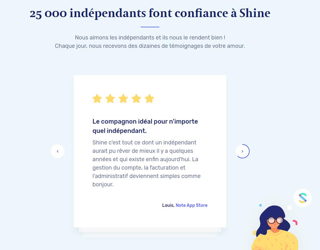 shine avis client
