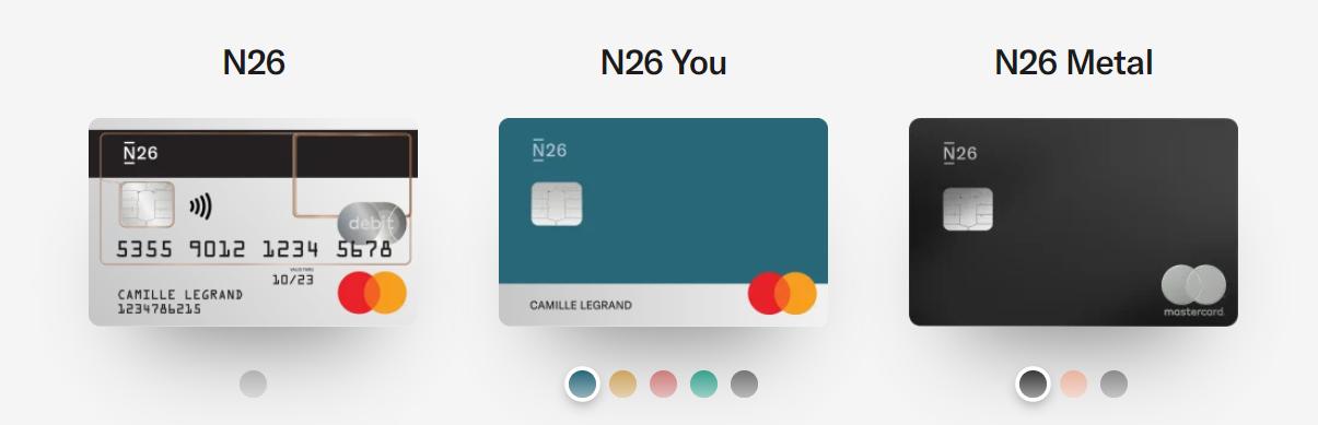 n26 carte bancaire